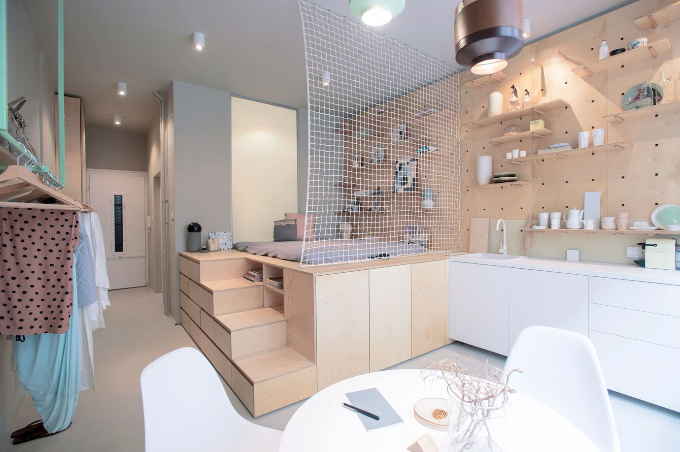 Studio Apartment Sleeping Solutions Tiny Studio Apartment With Multifunctional Sleeping And