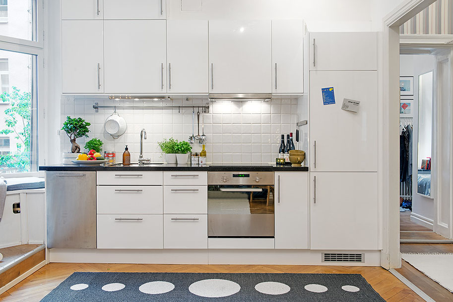Ikea Furniture Cozy Kitchen Design With Practical Seating Bench