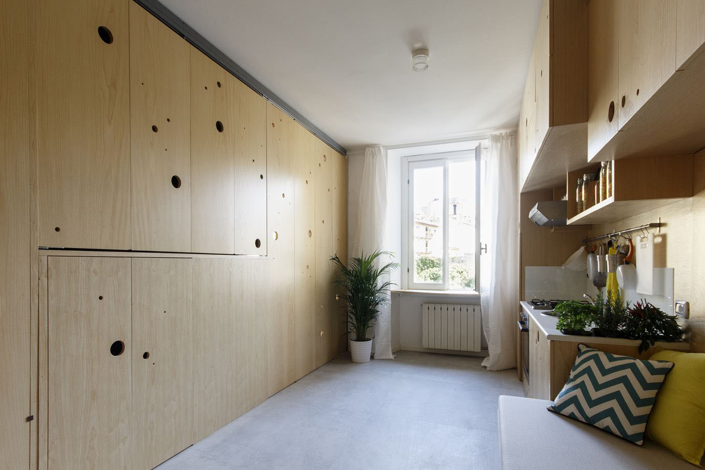 Studio Apartment Partition Small Studio Apartment With A Clever Movable Partition System