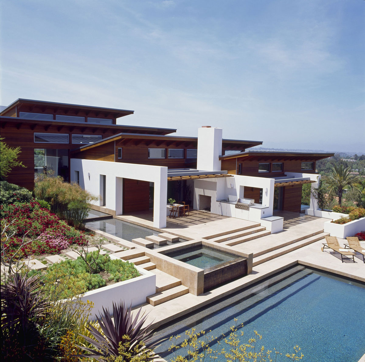 California Modern Architecture Timeless Architectural Estate In Rancho Santa Fe