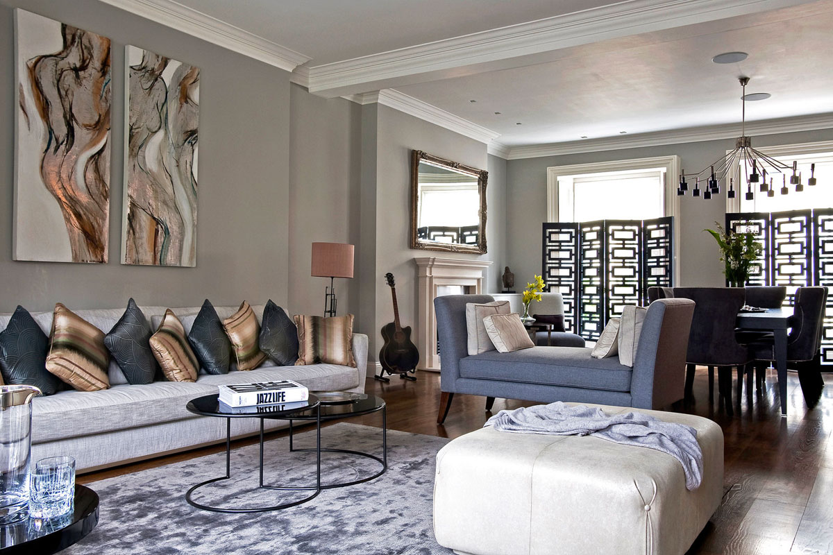 Modern Country Wohnzimmer Contemporary London Hyde Park Townhouse | Idesignarch