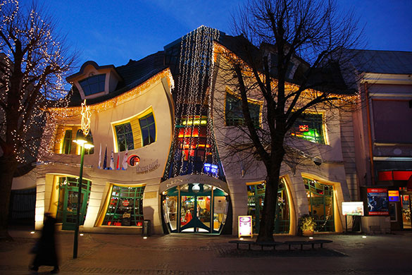 Unique Shaped Sofas Krzywy Domek – Crooked House In Sopot, Poland