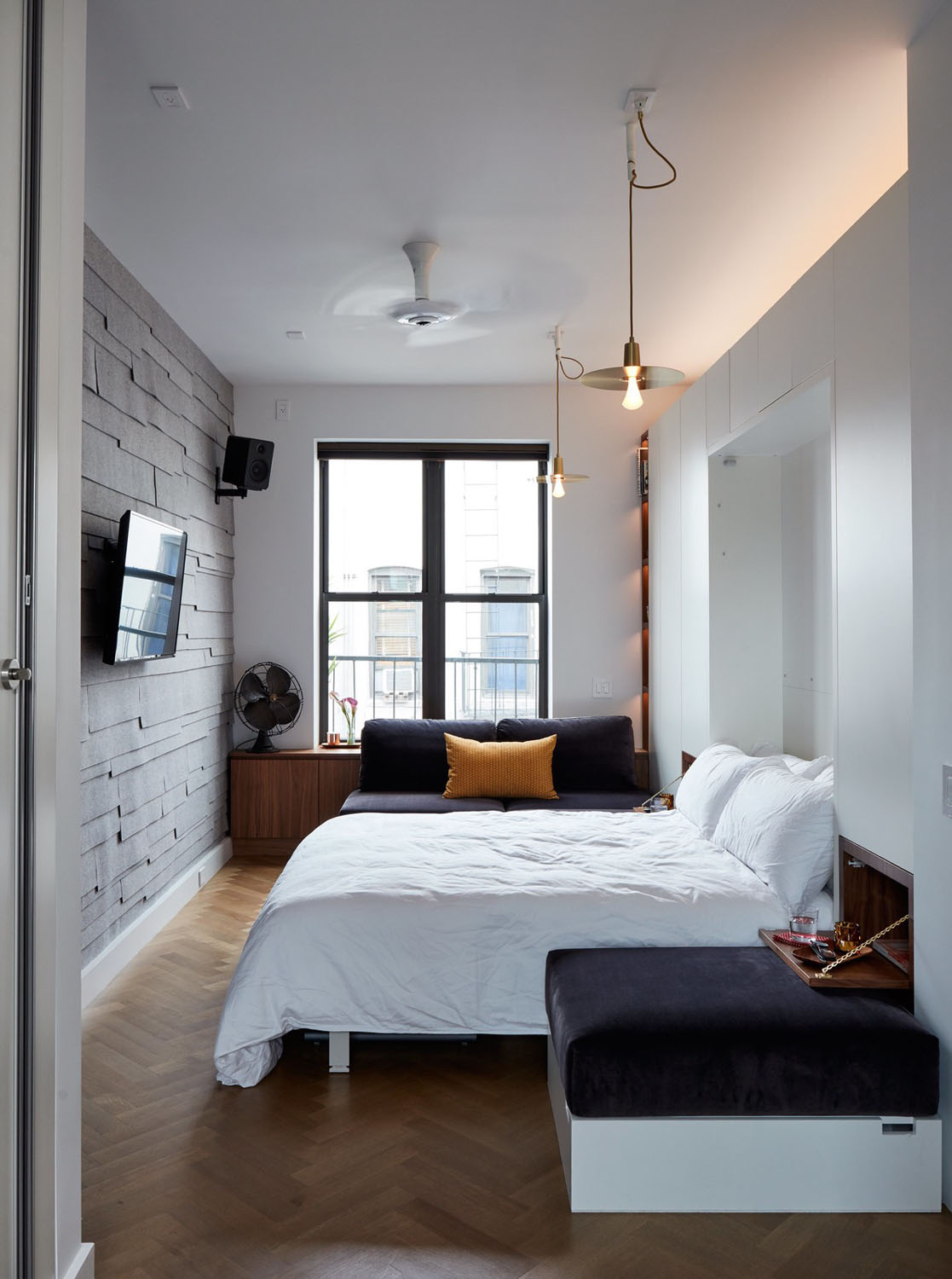 Beds For Studio Apartments Tiny 350 Square Foot Smart Apartment In New York City