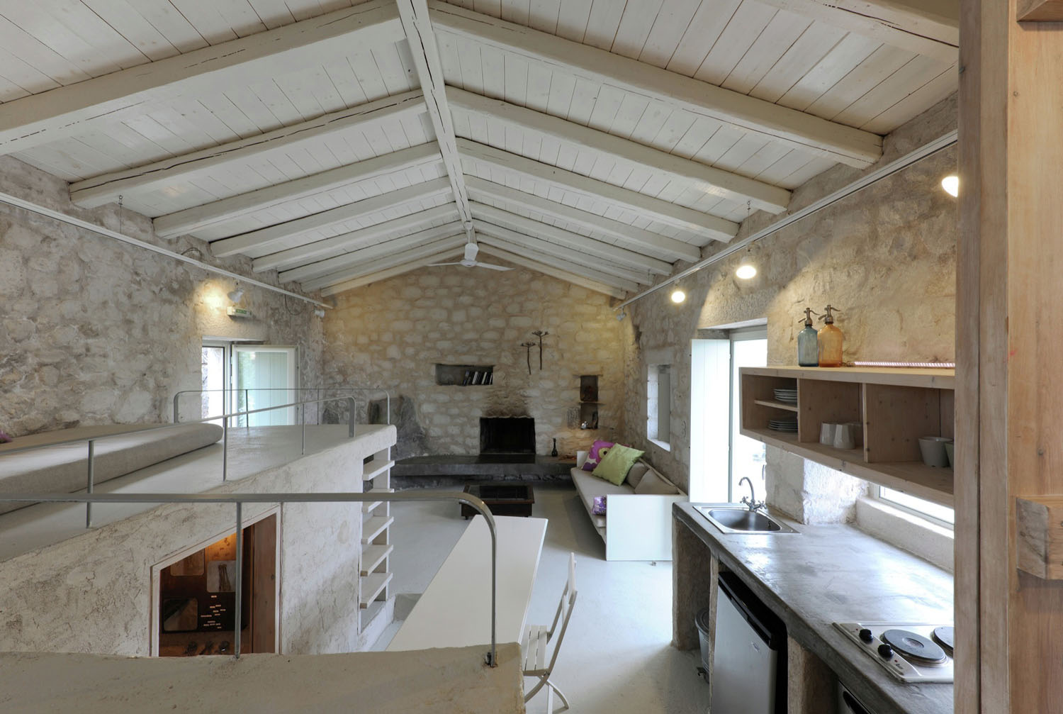 Rustic Furniture Historical Stone Building In Greece Transformed Into