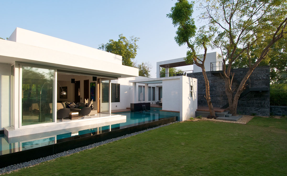Fertighaus Bungalow Minimalist Bungalow In India | Idesignarch | Interior