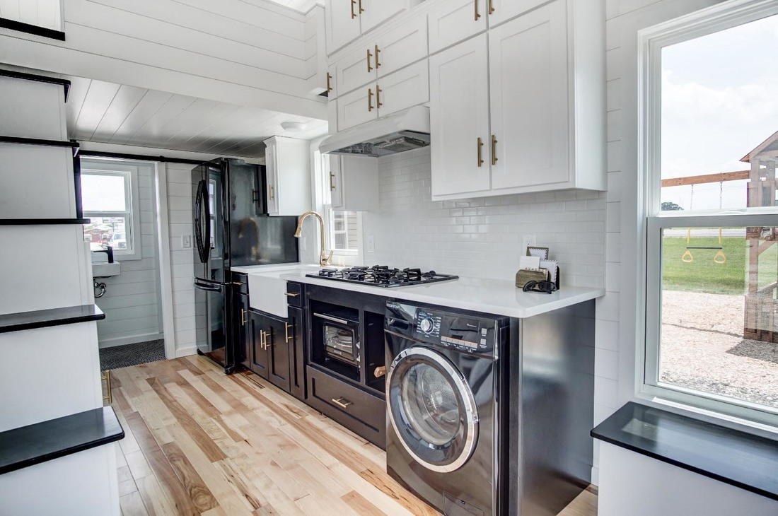 Small Townhouse Beautifully Designed Tiny House With Luxury Kitchen And