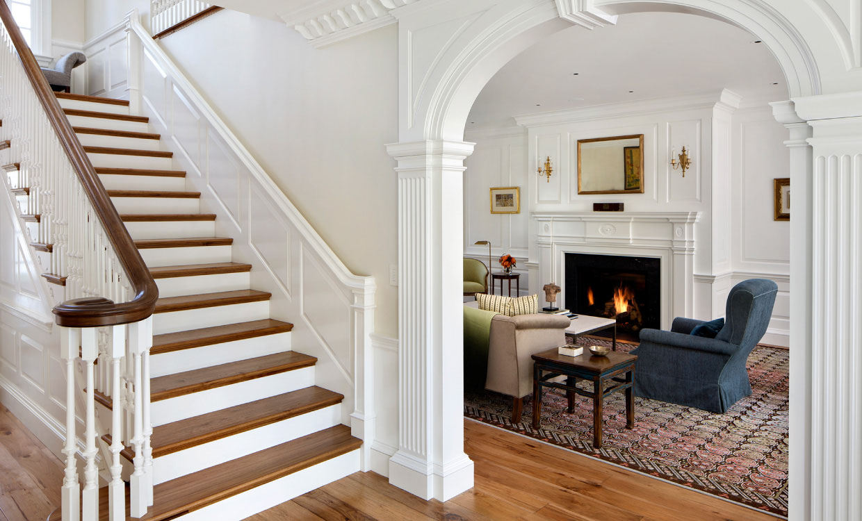 California Closets Crown Moulding Dominates This Updated Neoclassical