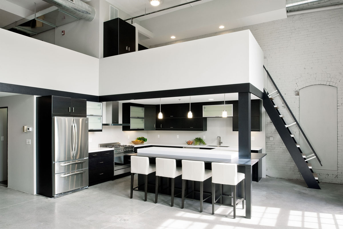 Modern Loft Interior Design Minimalist Riverfront Loft In Pawtucket Idesignarch