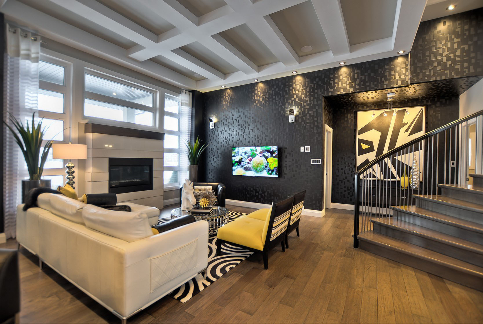 Interior Decorations Pictures Contemporary Custom Dream Home In Saskatoon With Inspiring