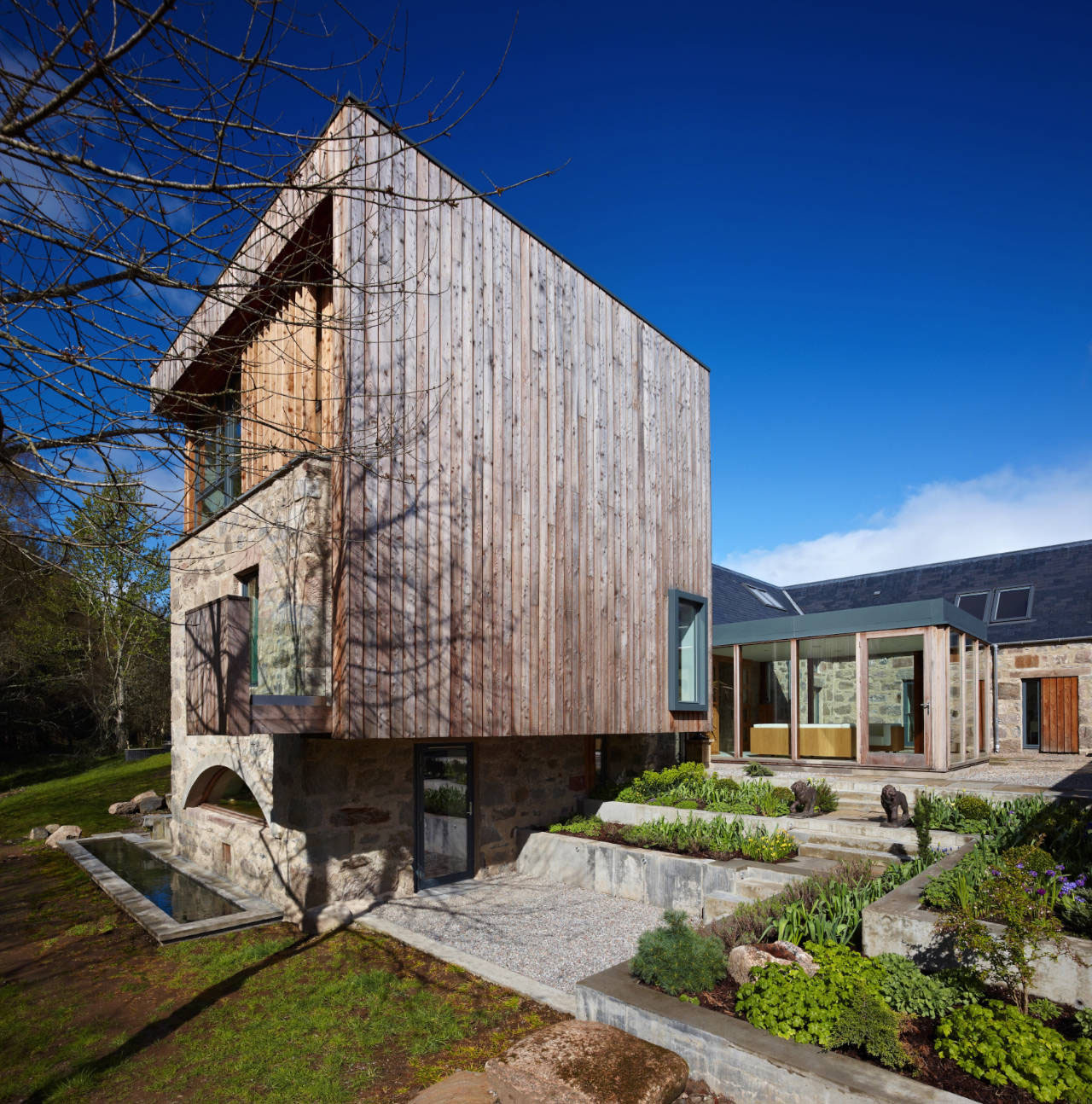 House Designs Scotland Scottish Country House Incorporates Ruins Of A Former Mill