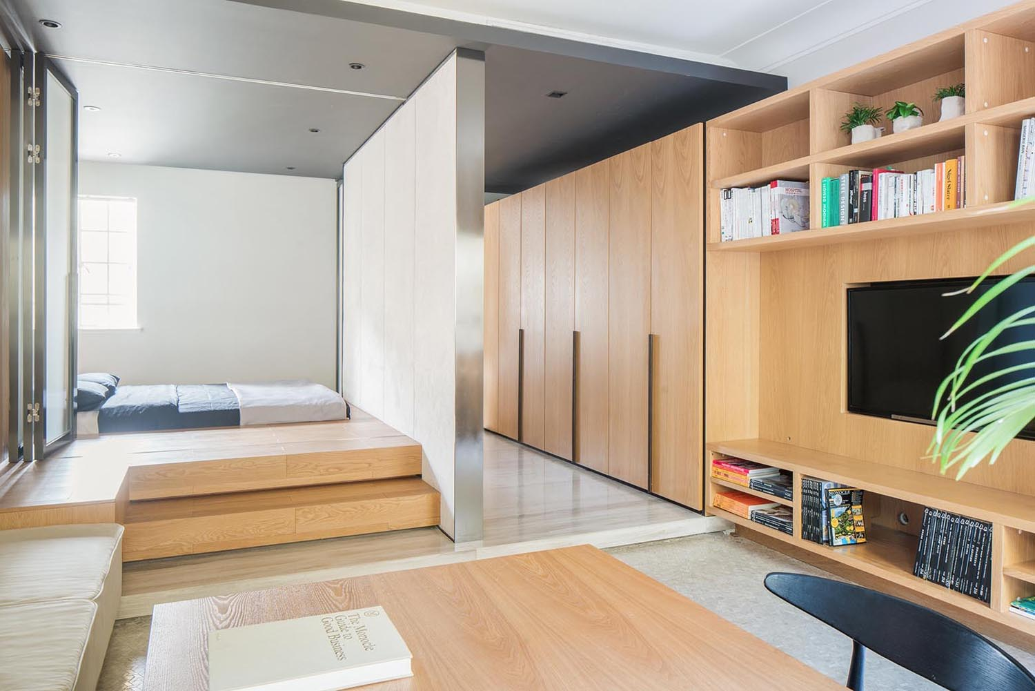 Micro Living Apartment Tiny Apartment With Functional Design That Feels Open Yet
