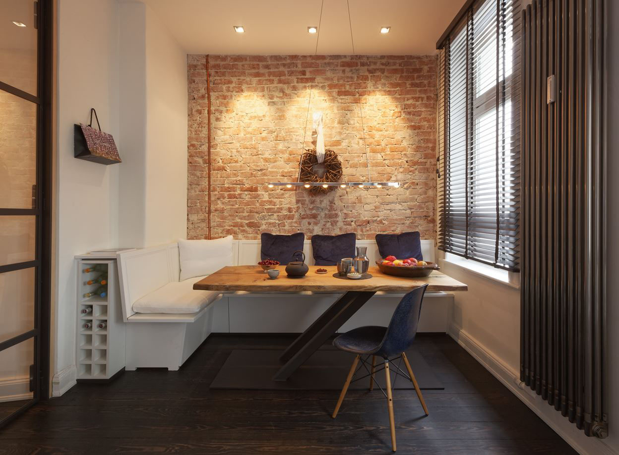 Sofas Berlin Cozy Renovated Apartment With Rustic Brick Walls