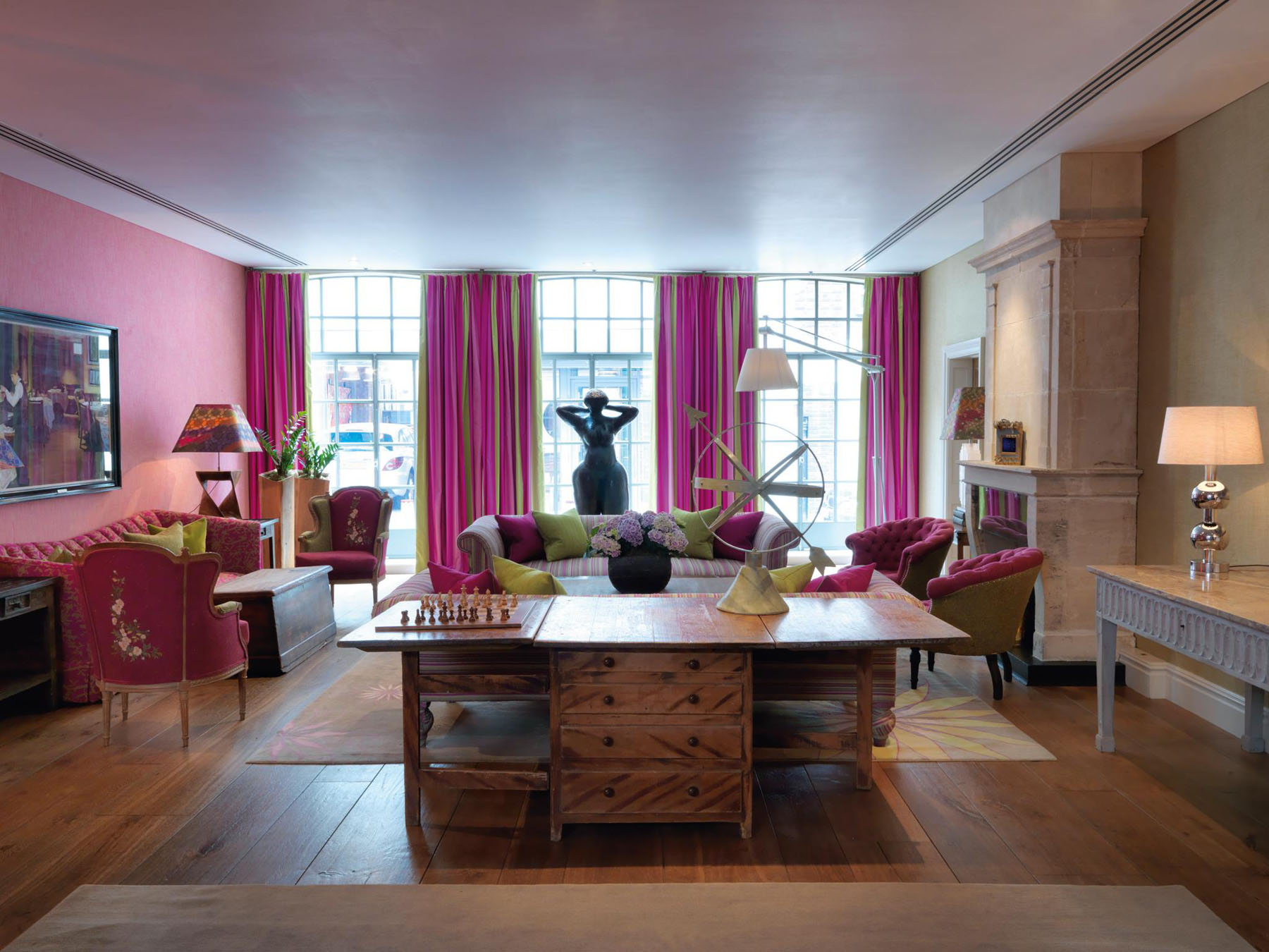 Kitchen Cabinets With Windows Trendy Soho Hotel London Interiors | Idesignarch