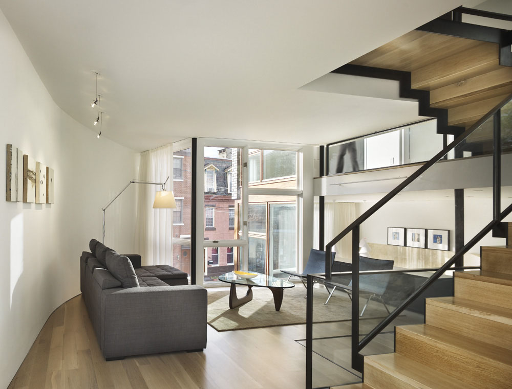 Unique Shaped Sofas Split Level House In Philadelphia | Idesignarch | Interior