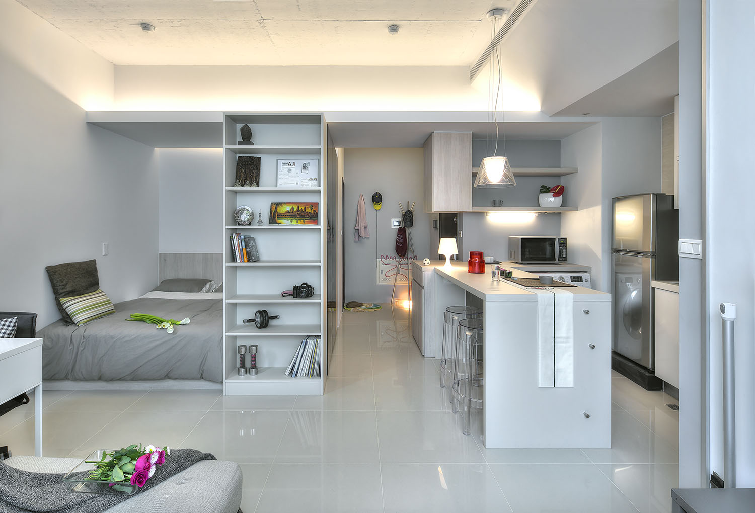 Small Apartment Interior Small Taipei Studio Apartment With Clever Efficient Design