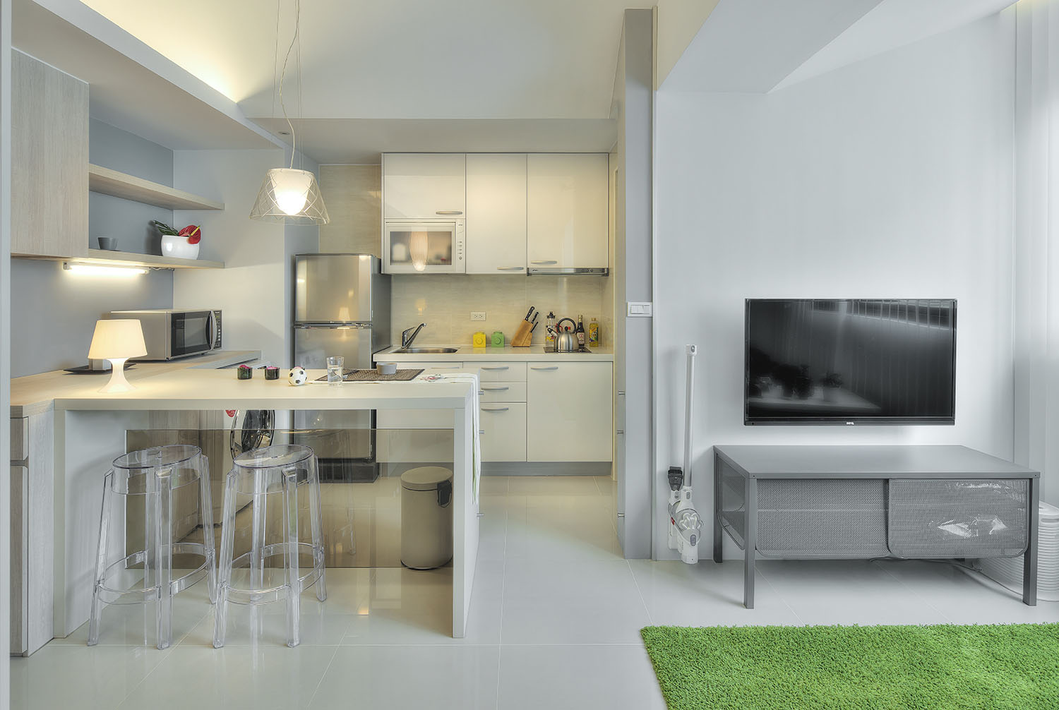 Studio Apartment Kitchen Island Small Taipei Studio Apartment With Clever Efficient Design
