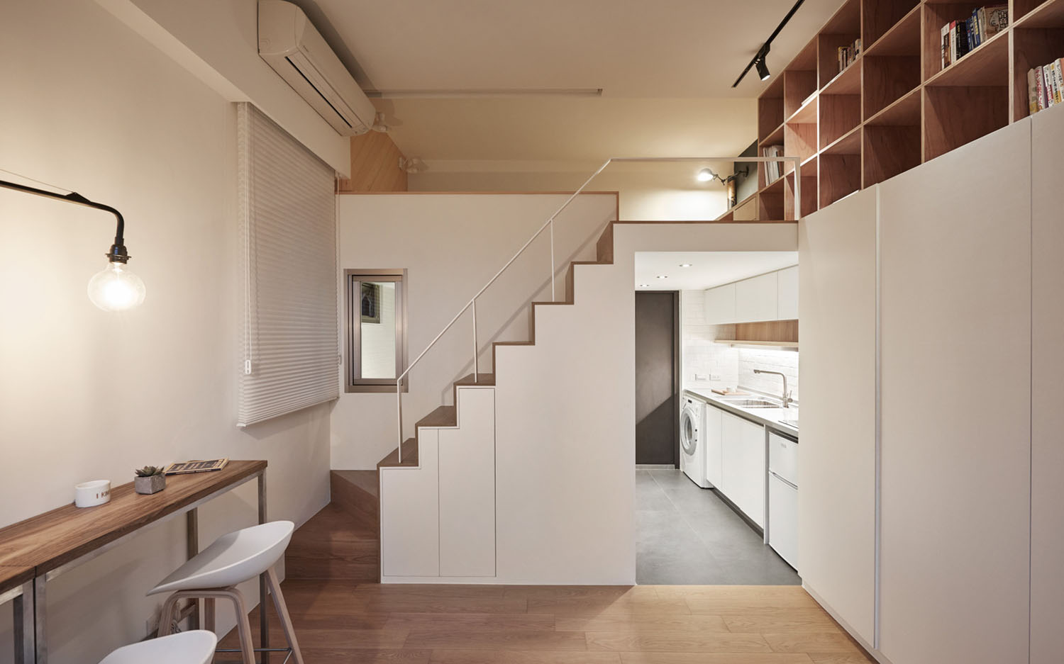 Studio Apartment Sleeping Solutions Tiny Studio Apartment In Taipei City With Sleeping Loft