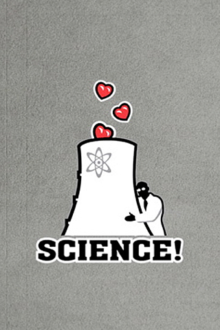 Science – Heart Nuclear iPhone Wallpaper | iDesign iPhone