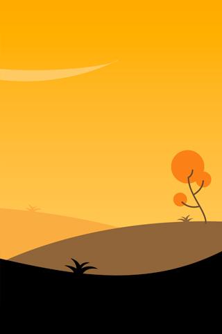 Vector Sunset iPhone Wallpaper | iDesign iPhone