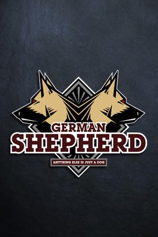 Best 3d Wallpapers For Iphone German Shepherd Logo Iphone Wallpaper Idesign Iphone