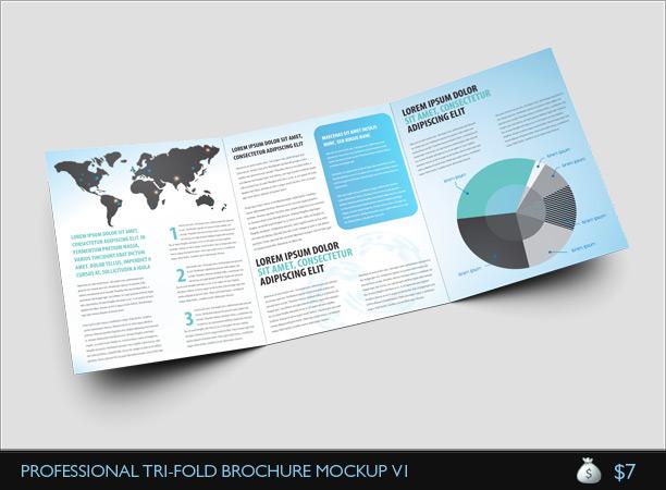 Gate Fold Brochure Mockup Double Parallel Fold Brochure Mock-Up - gate fold brochure mockup