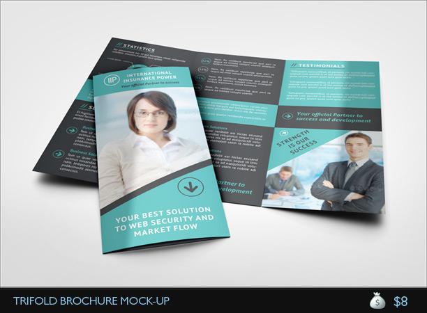 A4 Gatefold Brochure Mockup Themestacknet - gate fold brochure mockup