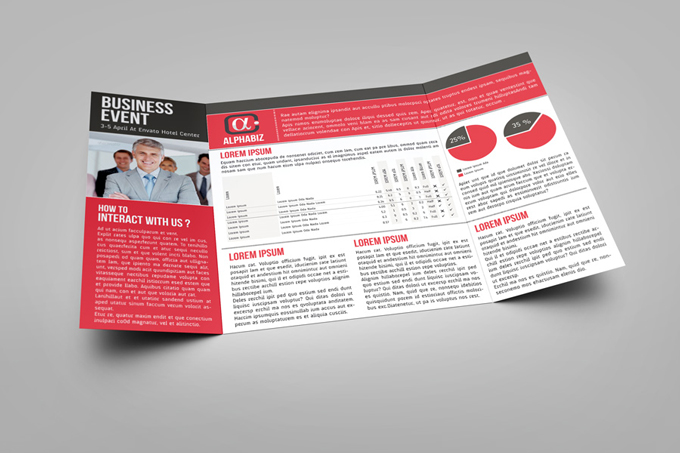 Gate Fold Brochure Mock-up GraphicRiver - gate fold brochure mockup