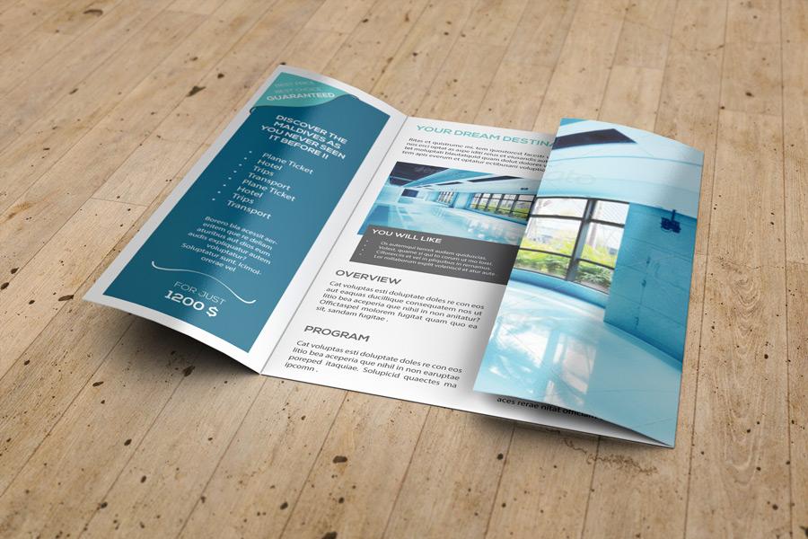A4 Gatefold Brochure Mockup by idesignstudionet - gate fold brochure mockup