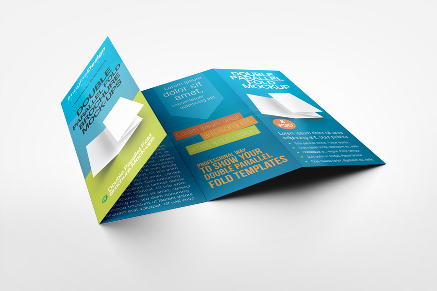 Double Parallel Fold Brochure Mock-up by idesignstudionet - gate fold brochure mockup