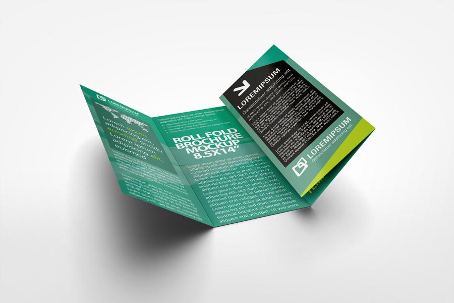 Roll Fold Brochure Mockup by idesignstudionet - gate fold brochure mockup