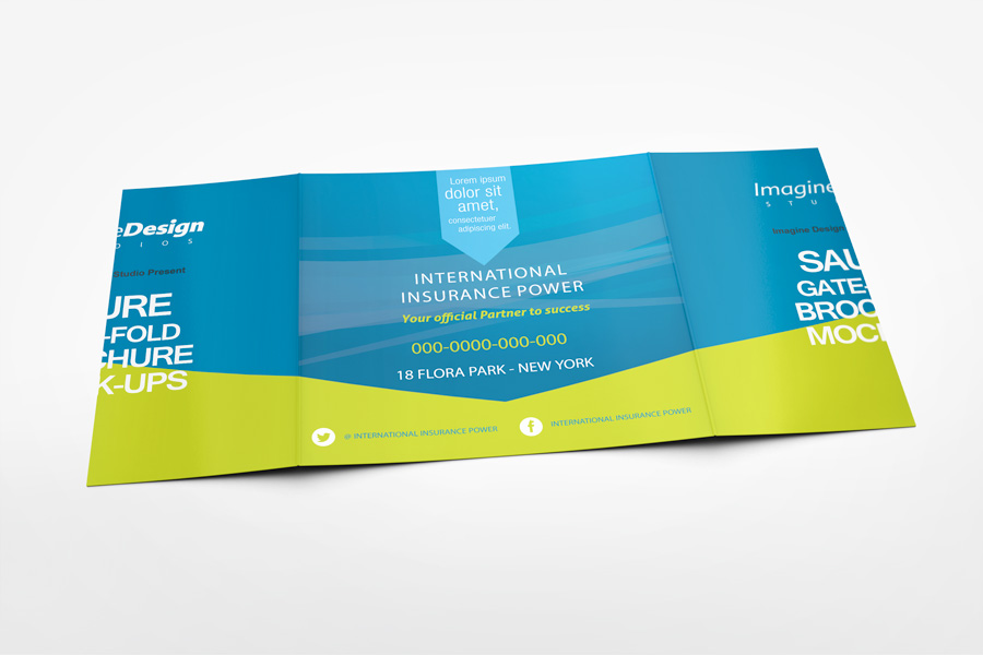 Square Gate Fold Brochure Mockup by idesignstudionet - gate fold brochure mockup