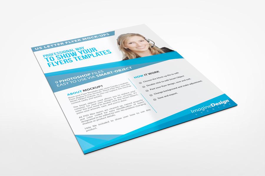 Us Letter Flyer Mockup Graphicriver Mock-ups