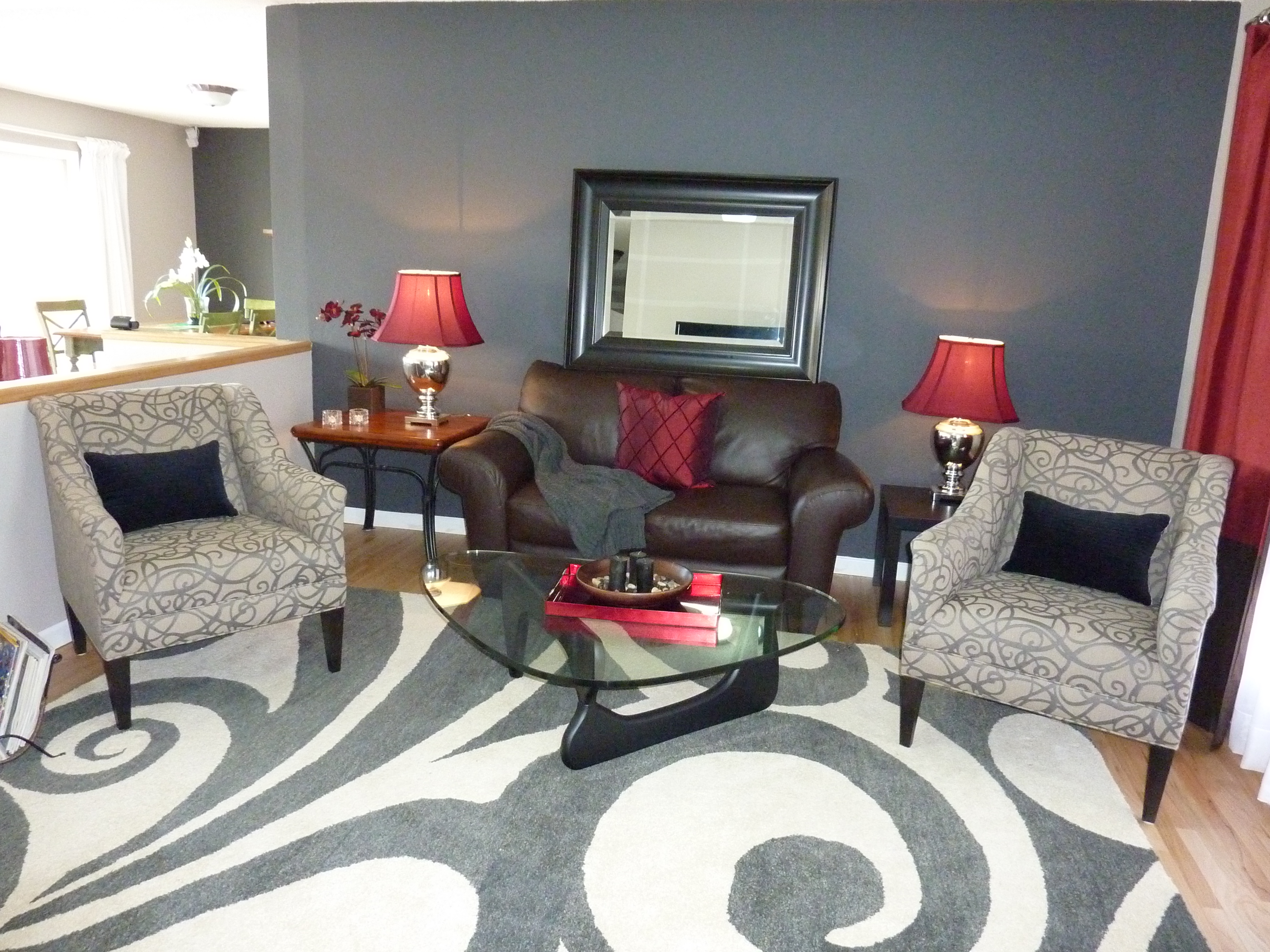 Red Wall Living Room 1000 43 Images About Color Black Red Grey On Pinterest