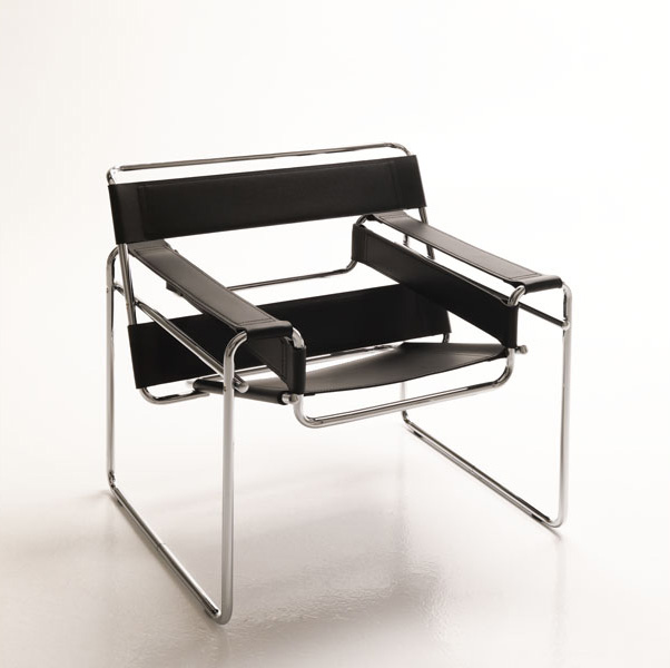 Design Armchair Metal Base For Office And Waiting Area - Ledersessel Design