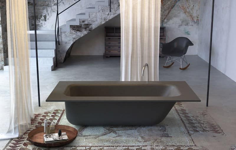 Beton Regal Minimal Design Bathtub, Various Colors And Finishes