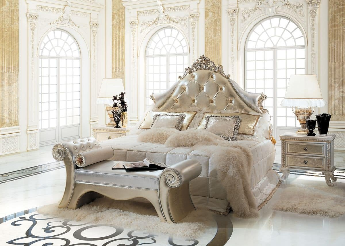 Traumhafte Betten Luxury Classic Bed, Upholstered Headboard Tufted | Idfdesign