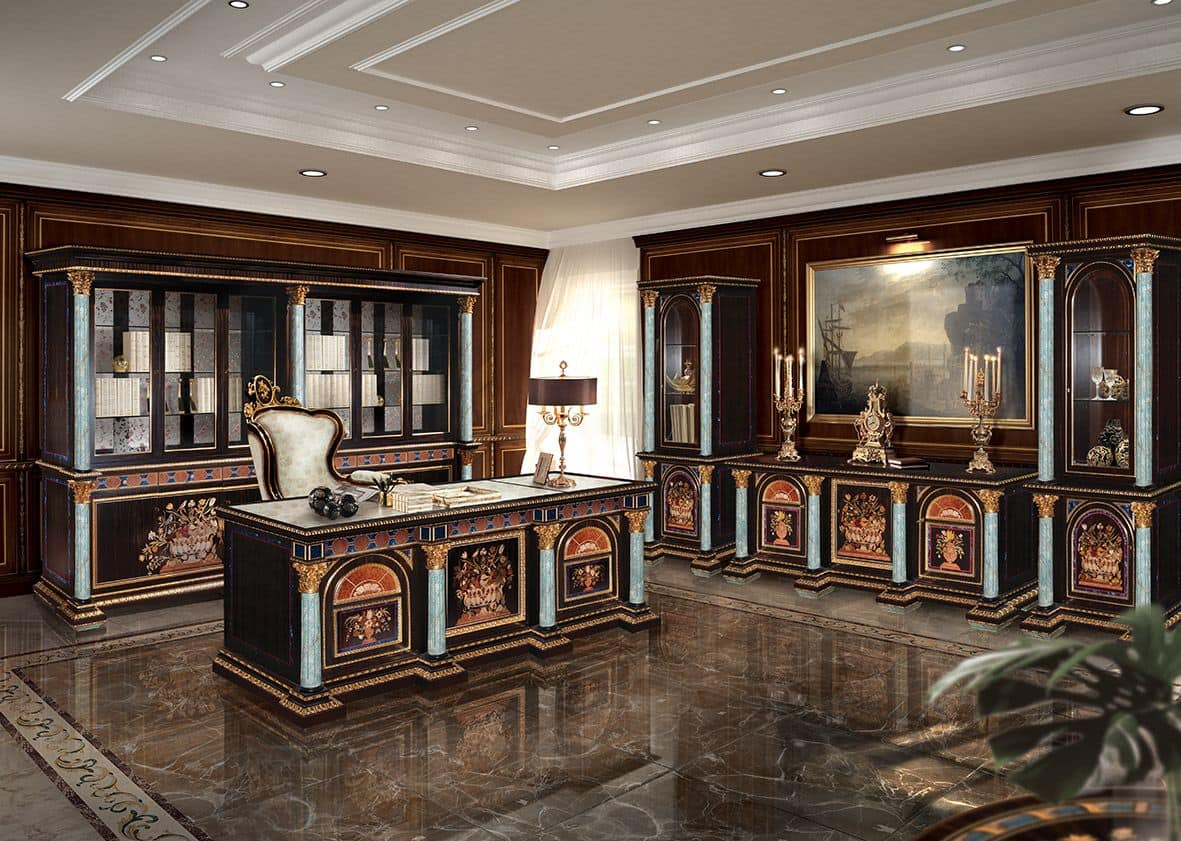 Classic Home Offices Inlaid Desk For Classic Luxury Office Idfdesign