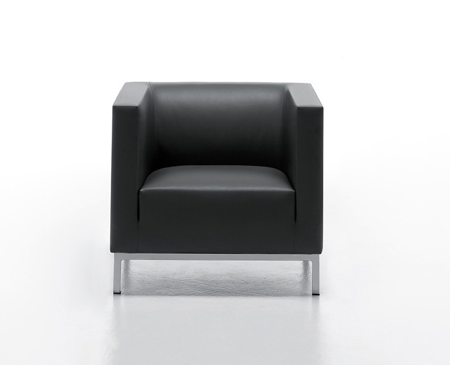 Waiting Armchair Upholstered In Faux Leather Idfdesign