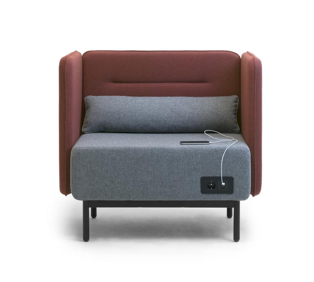 Sofa Relax Con Usb Upholstered Armchair With Electrification With Usb Sockets Idfdesign