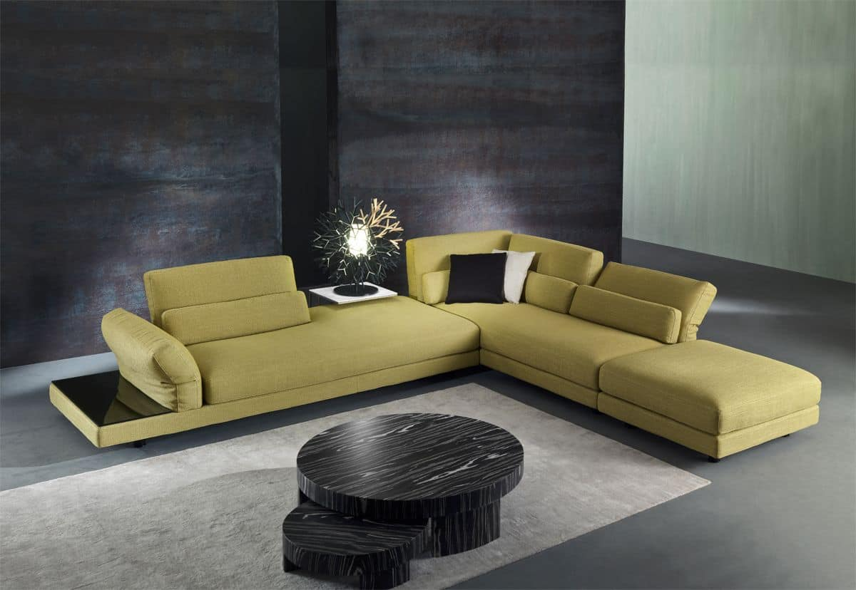 Relax Couch Fabric Sofa With Relax Mechanism, For Living Rooms | Idfdesign