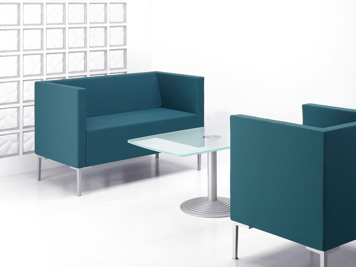 Square Shaped Sofa With Aluminum Feet Idfdesign