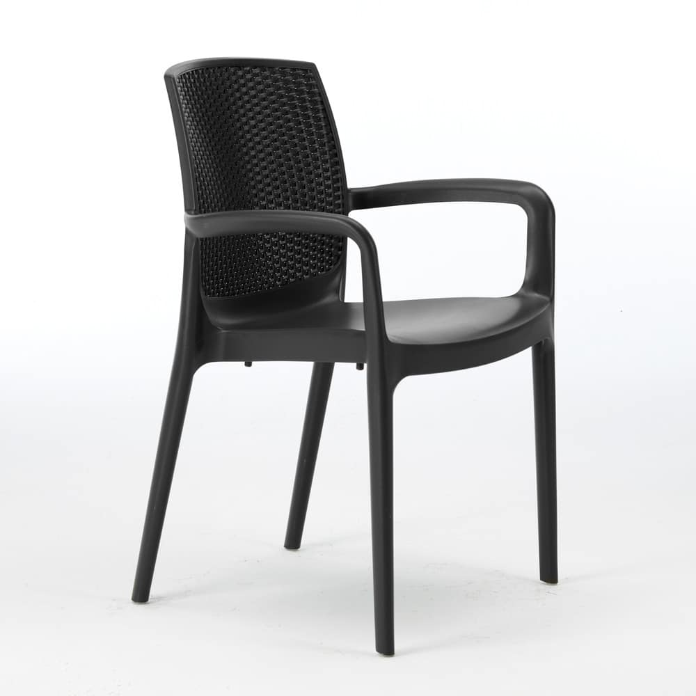 Sedie Rattan Cucina Chair Of High Quality Resin Stackable For Outside Idfdesign
