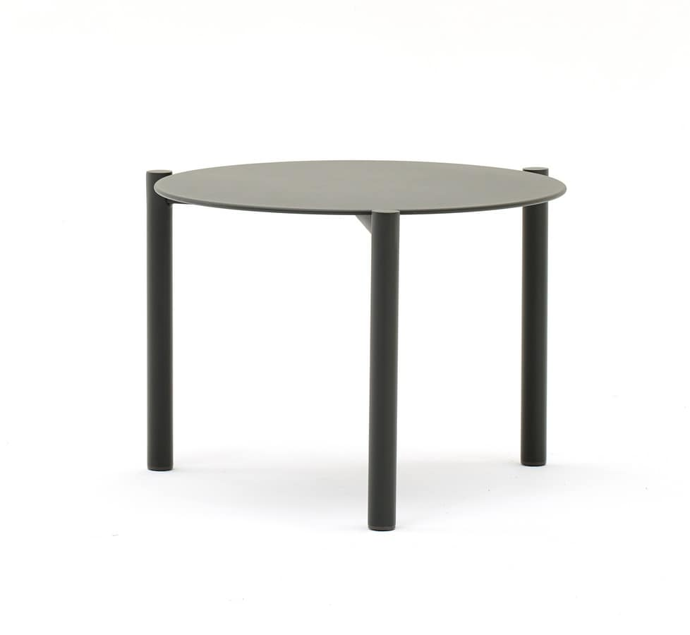 Couchtisch Torino Round Stackable Coffee Table In Aluminium For Outside Idfdesign