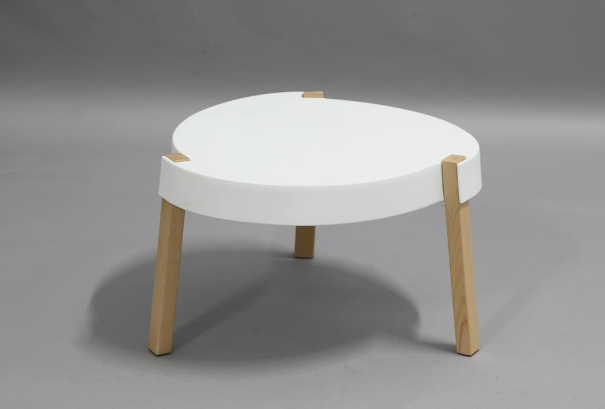 Table Polypropylène Coffee Tables In Solid Beechwood And Polypropylene Idfdesign