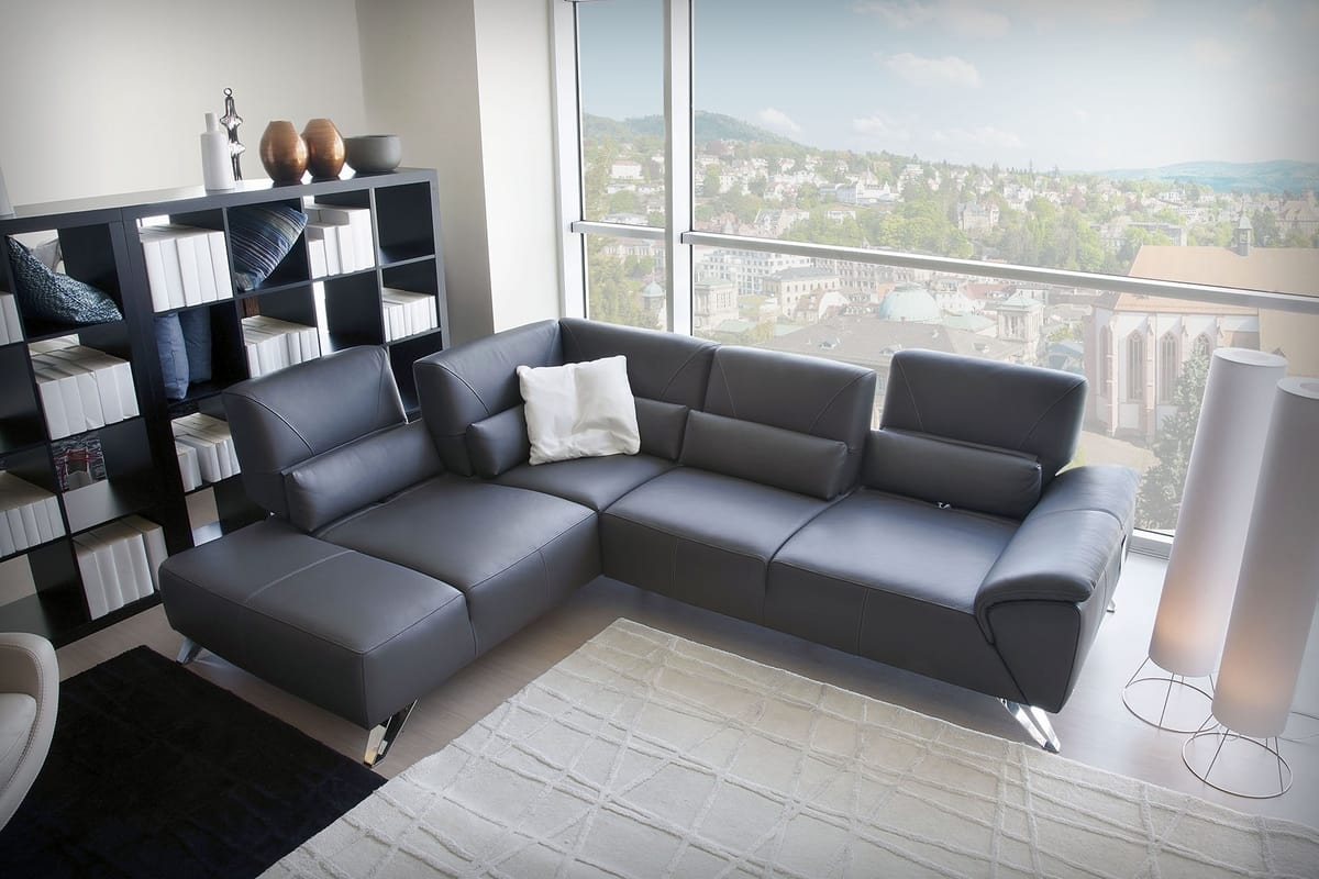 Sofa Verstellbare Rückenlehne Corner Sofa With Adjustable Backrest Idfdesign