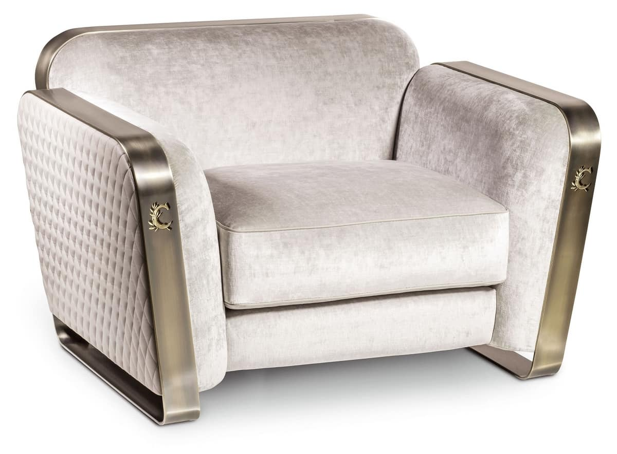 Futons De Voyage Vintage Armchair In Metal And Fabric Idfdesign