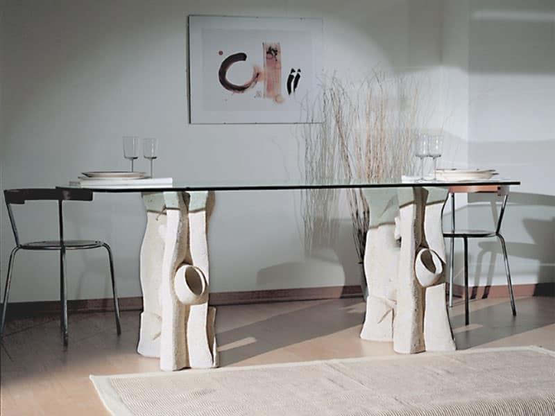 Tavoli Ovali Allungabili Vetro | Vetrina Bifacciale In Noce ...