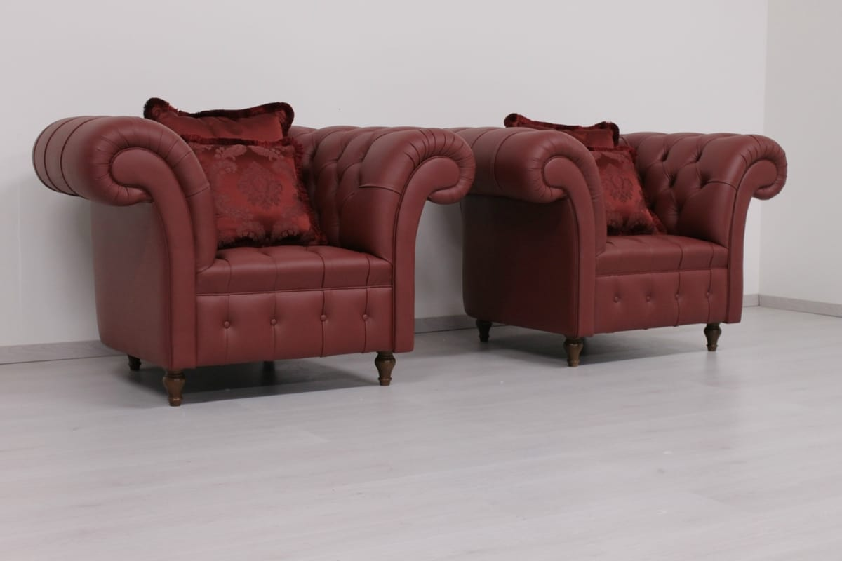 Kinder Swing Sessel Sessel Im Englischen Chesterfield Stil Idfdesign