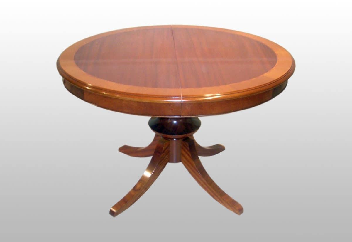 Runde Erweiterbar Klassische Tisch Mahagoni Furniert Idfdesign