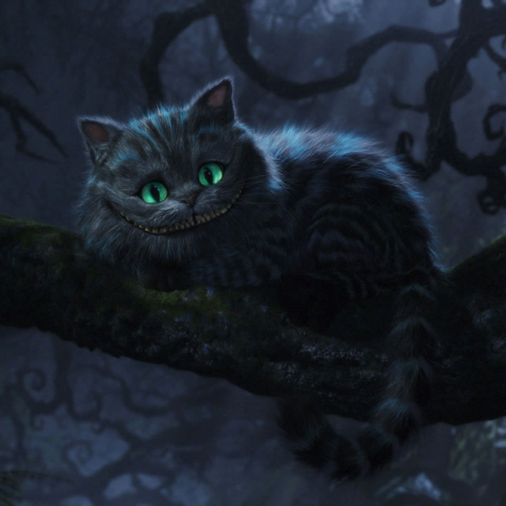 Grinsekatze Alice Im Wunderland Cheshire Cat Tree Ipad Wallpaper 1024×1024 – Digital Citizen
